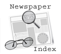 Newspaper index